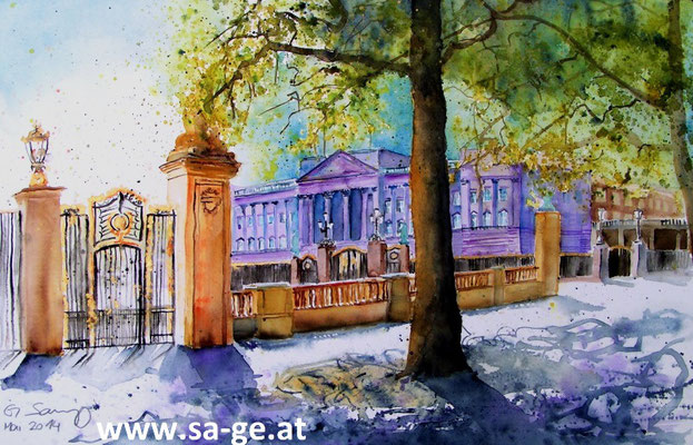 Buckingham Palace - 36x56cm, 2014