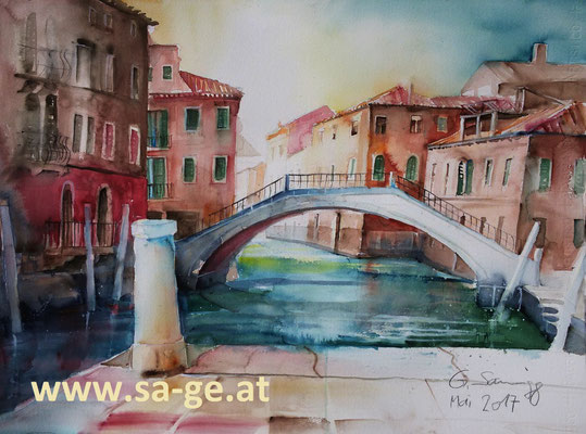 Venedig - Campo San Pantalon 76x56cm, 2017