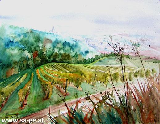 Am Weinwanderweg in Wolfsberg - 76x56cm, 2013 -X-