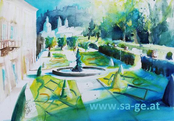 Mirabellgarten Salzburg II - 75x52cm, 2019/05