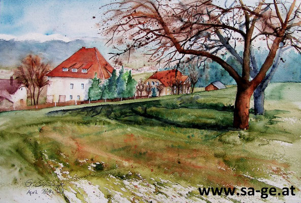 Schloß Silberberg - St. Johann im Lavanttal 56x36cm, 2014* -X-