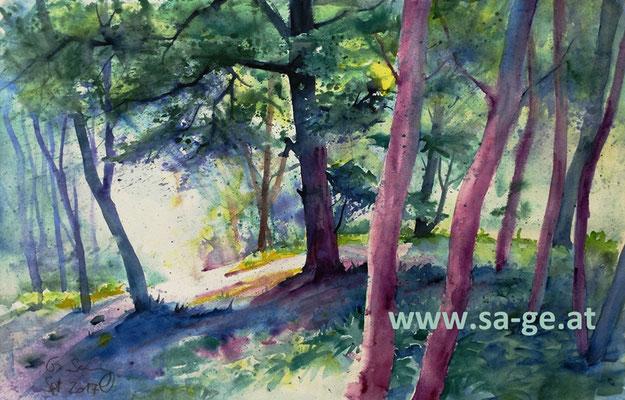 Wolfsberg - Im Schlosswald, 56x36cm, 2017/09