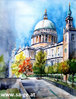 St. Paul's Cathedral - 45x36cm, 2014