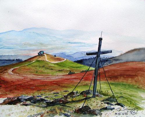 Vom Zingerlekreuz zur Wolfsbergerhütte 40x50cm, 2013