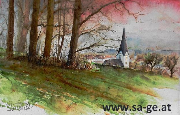Wiese bei St. Johann im Lavanttal - 56x36cm, 2015