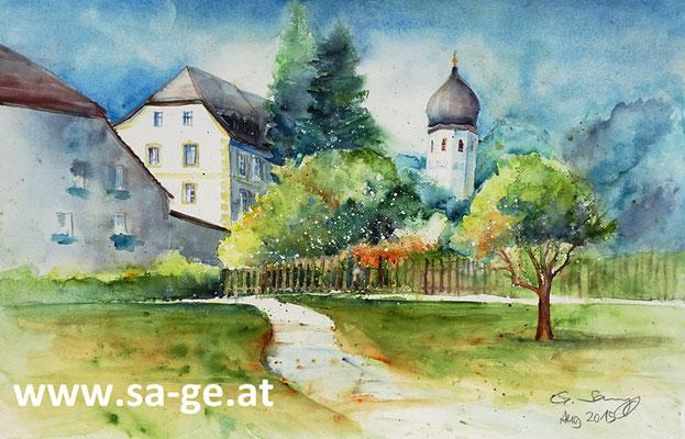 Kloster Frauenchiemsee -56x36cm, 2015