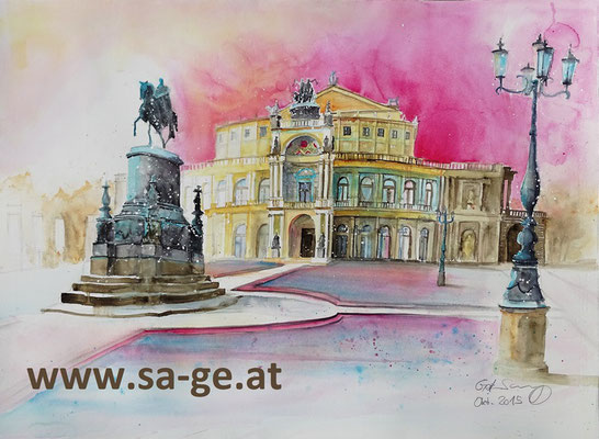 Semperoper in Dresden - 76x56cm, 2015