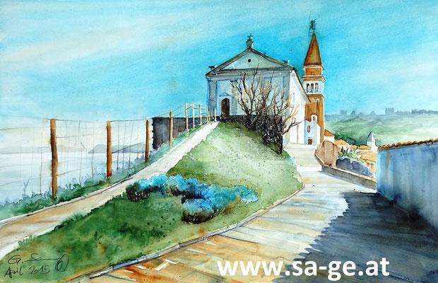Piran St. Georgs Kathedrale II - 56x36cm, 2015