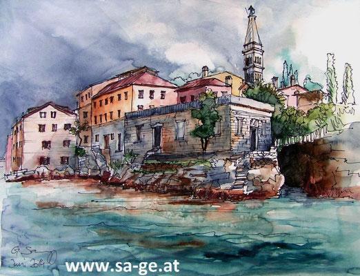 Schlechtwetter in Rovinj - A3 Skizzenblock
