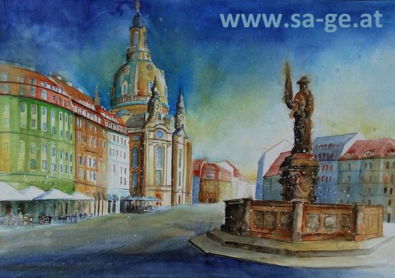 Am Jüdenhof in Dresden - 68x47cm, 2015