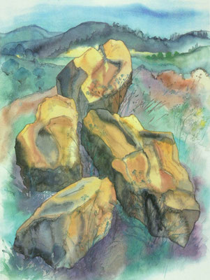 Günter Grass Algraphie: Steine (59,7 x 45 / 70 x 53,5; am Markt vergriffen, 1 x lieferbar)