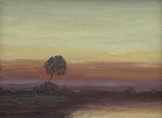 48) Hans Pick: Einsamer Baum (24 x 30) Verkauft