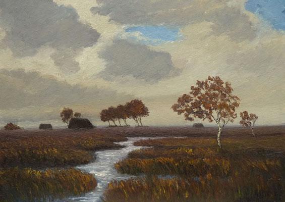 71) Hans Pick: Moor-Landschaft (50 x 70) Verkauft