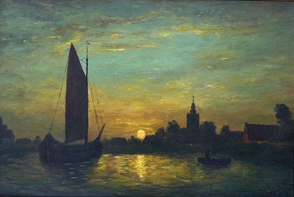 1) Hans Pick: Abend im Hafen (80 x 120) Verkauft