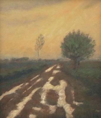 81) Hans Pick: Einsamer Moorweg (50 x 60) Verkauft