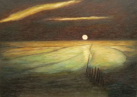 74) Hans Pick: Im Wattenmeer (60 x 80) Verkauft