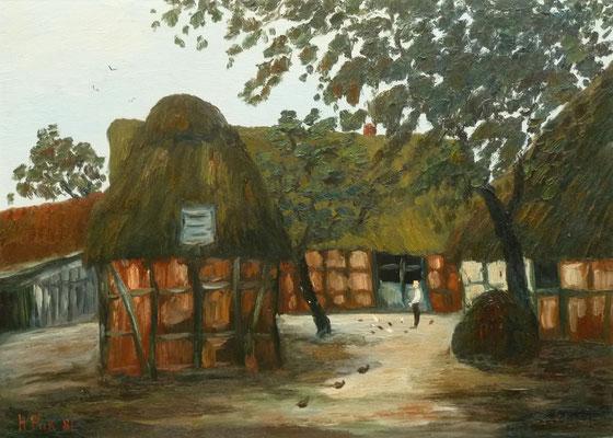 72) Hans Pick: Bauernhof (50 x 70) Verkauft