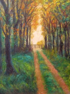 43) Hans Pick: Sonnentag im Park (80 x 60) Verkauft