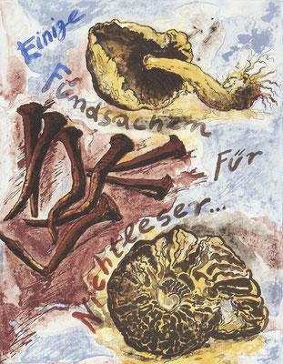 Günter Grass Algraphie: Fundsachen (37 x 47 / 56 x 76; am Markt vergriffen, derzeit nicht lieferbar)
