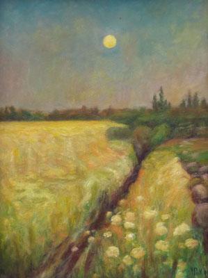 56) Hans Pick: Blühender Feldweg (60 x 80) Verkauft