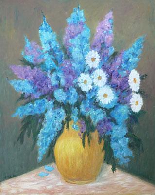 35) Hans Pick: Blumenstrauß (80 x 100) Verkauft