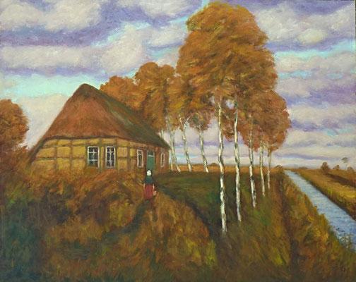 13) Hans Pick: Kate im Teufelsmoor (80 x 100) Verkauft