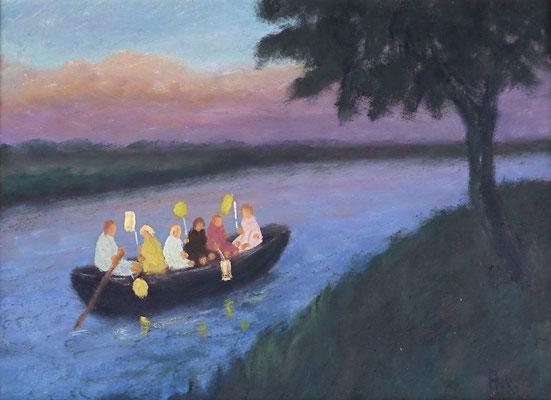 31) Hans Pick: Laternenkinder (18 x 24) Verkauft