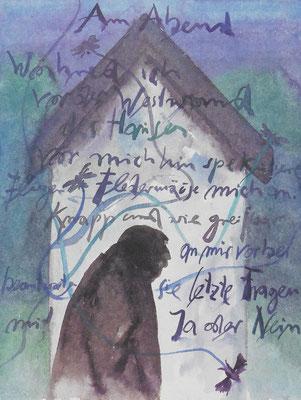 Günter Grass Algraphie: Selbst am Abend (47 x 36 / 60 x 46; am Markt vergriffen, 1 x lieferbar)
