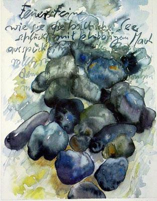 Günter Grass Algraphie: Feuersteine (47 x 36 / 60 x 46; am Markt vergriffen, derzeit nicht lieferbar)
