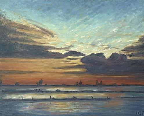 10) Hans Pick: Winter an der Wümme (80 x 100)Verkauft