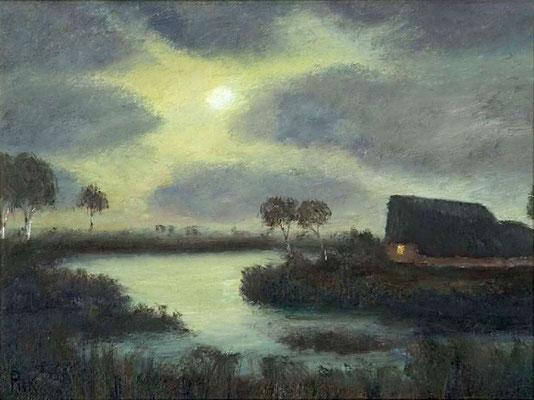 39) Hans Pick: Kate im Teufelsmoor (50 x 70) Verkauft