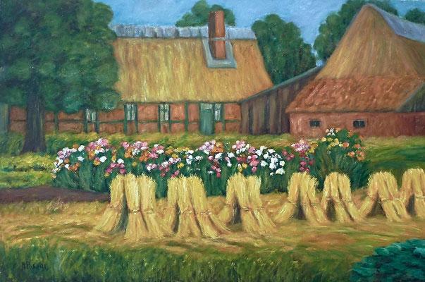9) Hans Pick: Bauernhof (80 x 120) Verkauft