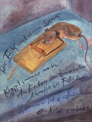 Günter Grass Algraphie: Mausefalle (47,5 x 35,5 / 60 x 46; am Markt vergriffen, derzeit nicht lieferbar)