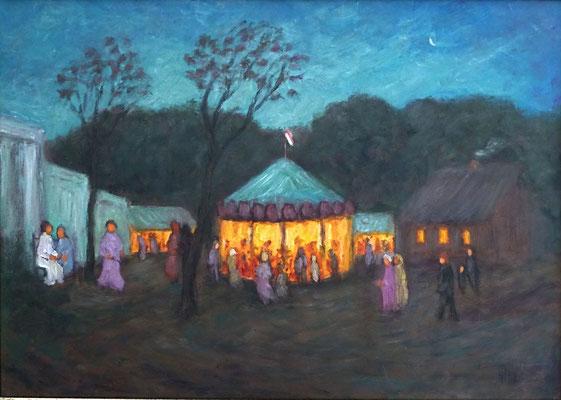 37) Hans Pick: Schützenfest in Worpswede (50 x 70) Verkauft