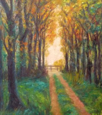 78) Hans Pick: Allee im Park (60 x 80) Verkauft
