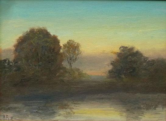 51) Hans Pick: See-Landschaft (30 x 40) Verkauft