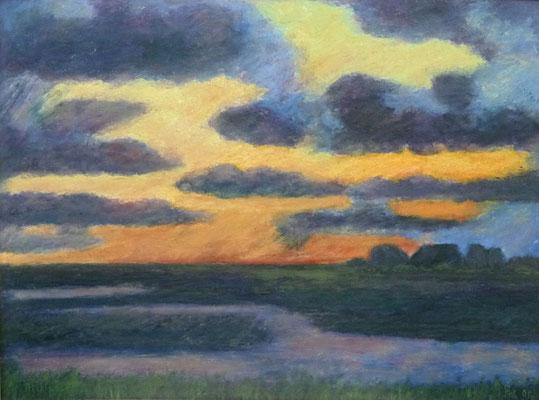83) Hans Pick: Farbenspiele im Moor (60 x 80) Verkauft