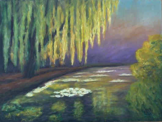 6) Hans Pick: Im Park (50 x 70) Verkauft