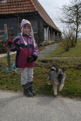 auf dem Spaziergang mit Joelle