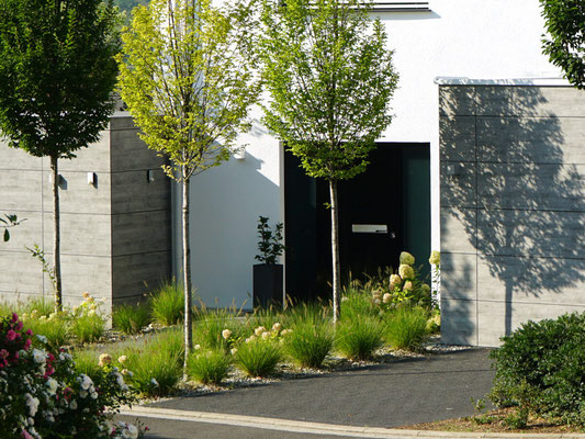 Haustür und Eingangsbereich eines Wohnhauses