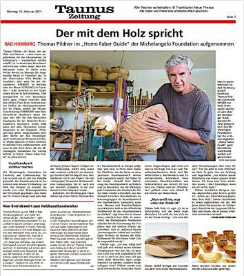 Frankfurter Neue Presse -Taunus Zeitung v. 15.02.2021