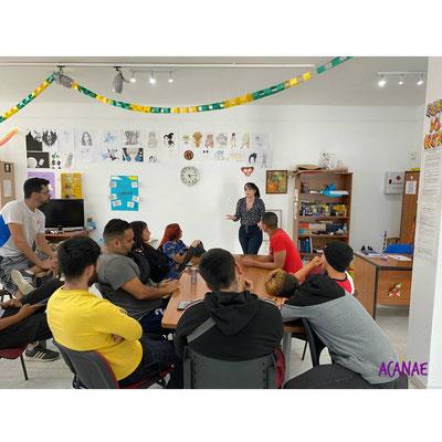 Charla sobre bullying en el Centro Juvenil Tagoror San Isidro en colaboración con el Ayto. de Granadilla