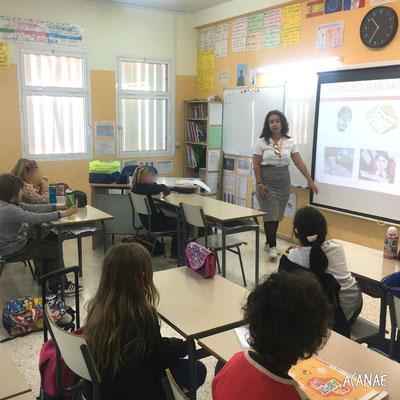 Charlas sobre acoso escolar a alumnos de primaria en Colegio Francés