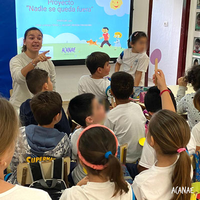 Proyecto Nadie se queda fuera sobre la prevención del bullying en infantil y primer ciclo de primaria - CEIP Pérez de Valero en Los Cristianos