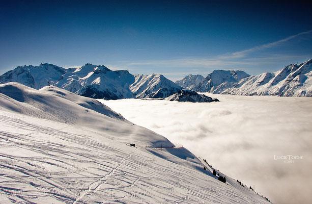 Mer de Nuages, Alpe d'Huez, hiver 2010.