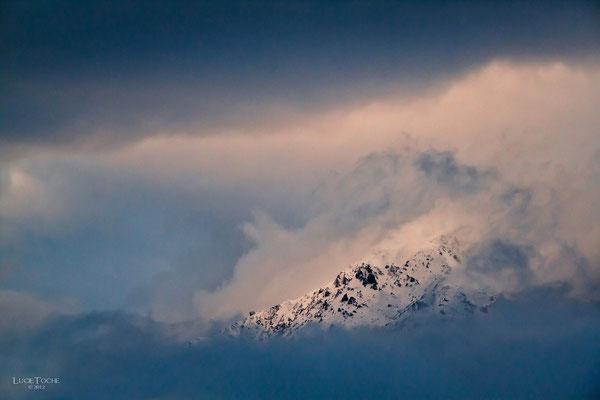Dernières lueurs sur les massifs Alpins