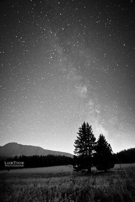 Vue sur la Voie Lactée, plateau de l'Arselle, Massif de Belledonne (Alpes)