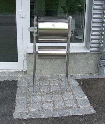 Briefkasten setzen und Pflastern