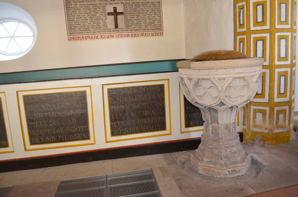 Spätgotischer Taufstein um 1510