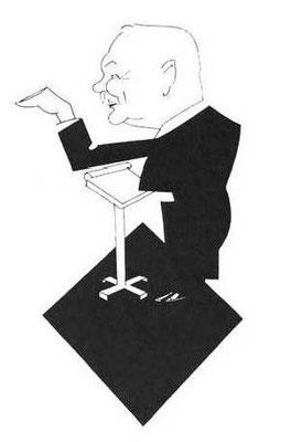 Karikatur von F. Lehár © IFLG
